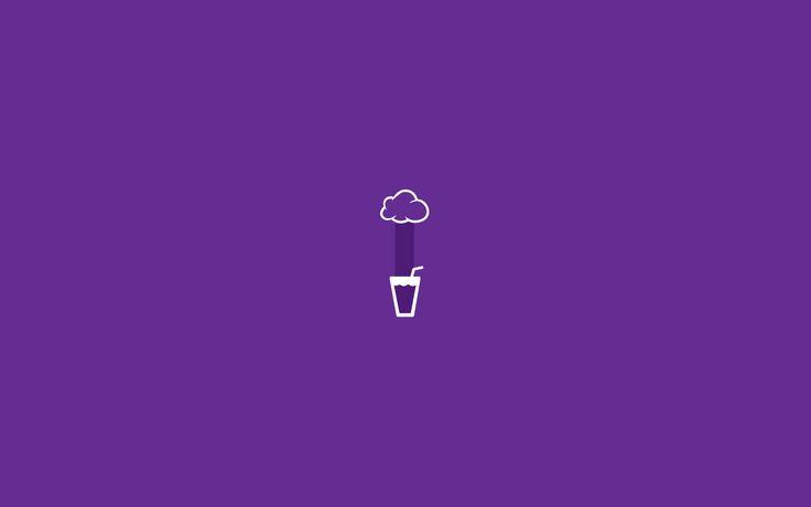 Glass rain minimalist wallpaper violet1