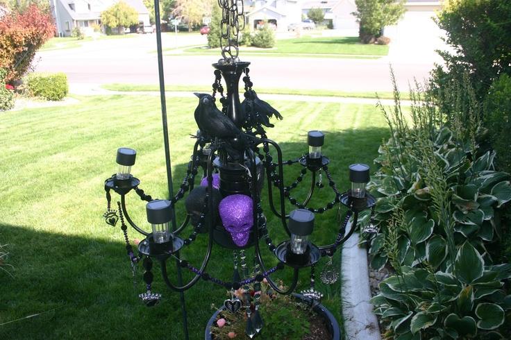 Halloween Chandelier-DIY Project for under 40 bucks  So Ready for Halloween!