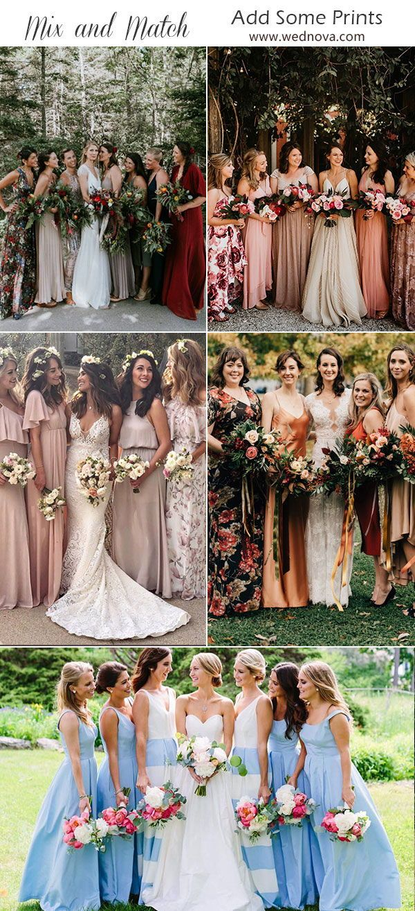 Mix And Match Bridesmaid Dresses Done Right 7 Ways To Rock The Trend Fall Bridesmaid Dresses Pastel Bridesmaid Dresses Spring Bridesmaid Dresses