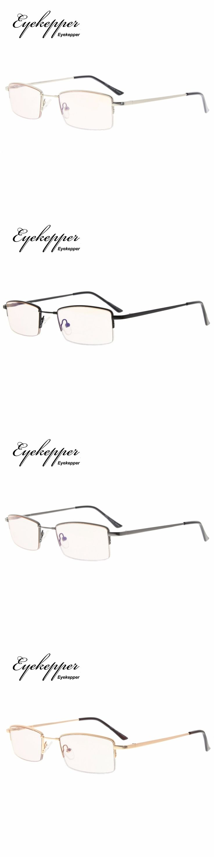 CG1708 Eyekepper Half-rim Memory Titanium Bridge Reading Glasses For Video Games Blue Light Blocking Readers +0.00~+3.00