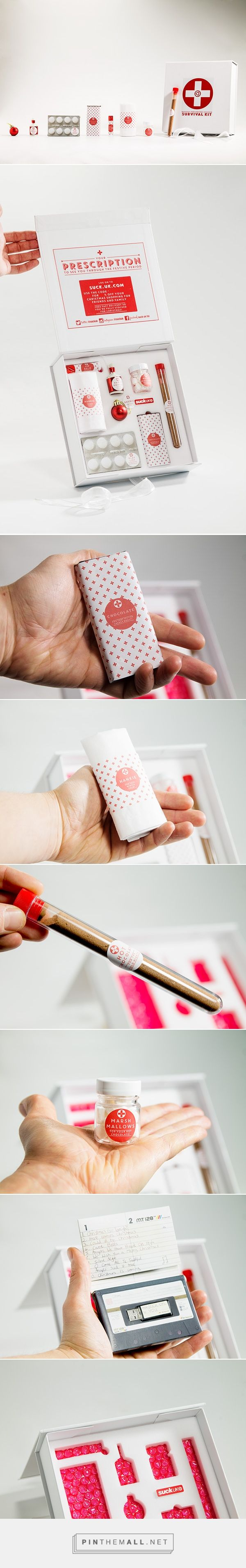 Christmas Survival Kit packaging on Behance by Suck UK, London, United Kingdom curated by Packaging Diva PD. Who couldn't use a little Christmas survival cheer? We wanted to send a little package of TLC to some of our retailers going into the busy month of December.