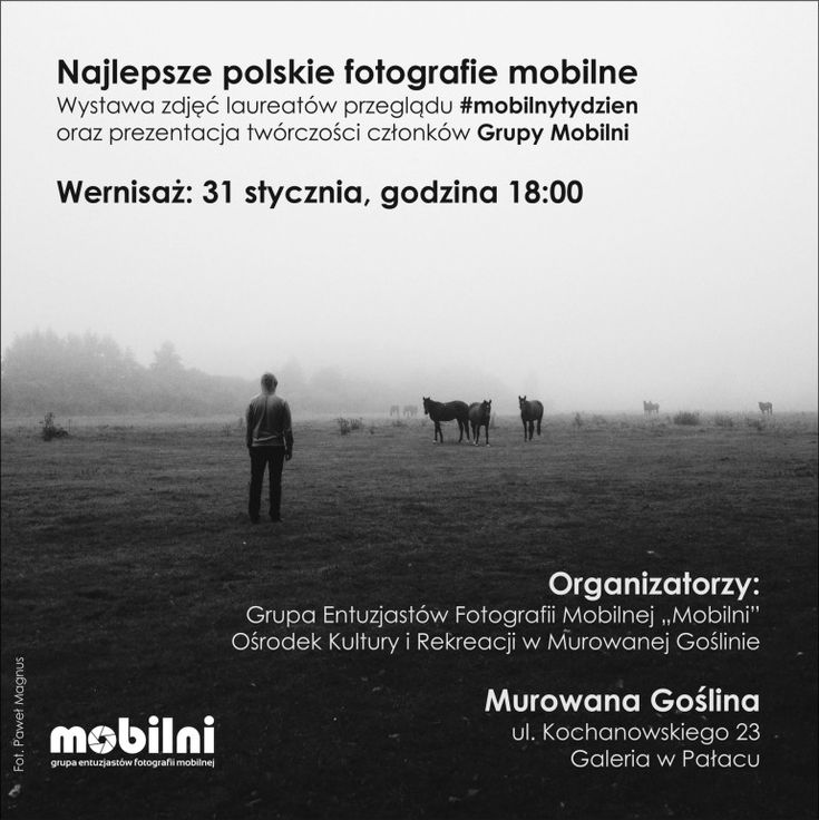2015 Edition of Murowana Goślina exhibition announced with my 2 pics participating. It could have been many more if not for comprising only the period from September, not the whole 2014 !
