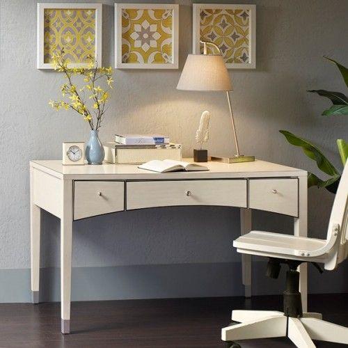 Cream Desk with Black Trim