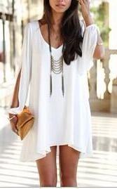Women's Long Sleeve Chiffon Dress