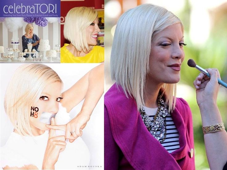 tori spelling a line bob hair | Tori Spelling my hair later! So excited!