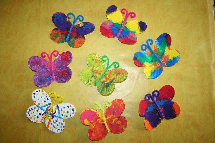 Papillon peinture avec pliage princesse juliet - Bricolage avec bouteille plastique ...