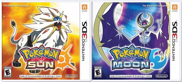 Pokemon Sun and Pokemon Moon Combo Set- Nintendo 3DS #Nintendo
