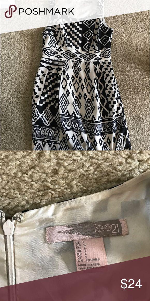 Aztec Tan and black dress Forever 21. Short dress. Size up. Tighter Forever 21 Dresses Midi
