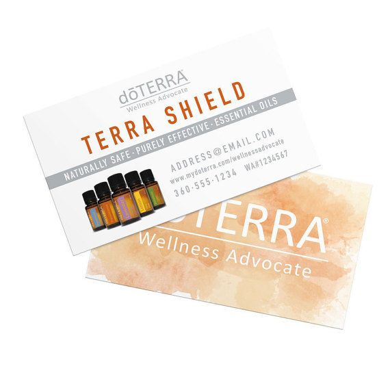 dōTERRA Business Cards Watercolor Design by WightHouseCreative