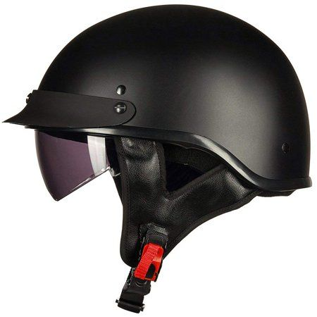 66d6e43f ILM Motorcycle Retro Vintage Half Face Helmet with Sun Visors Quick Release  Buckle DOT Certified S M L XL, Black in 2019 | Products | Dot approved ...