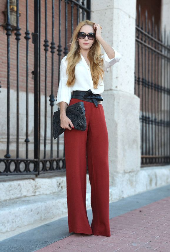 Top 16 High-Waisted Pants. I'm really loving the belt.