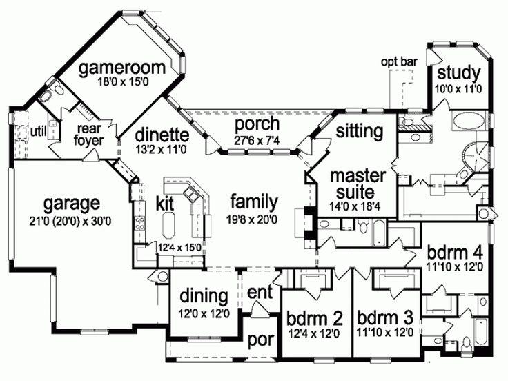 ... Four Bedroom House Plans Part 88