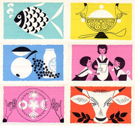 Hand Drawn by Hand: Mid Century Modern, Vintage Illustrations, Graphics Design Inspiration, Bedrooms Design, Modern Graphics Design, Colors Palettes, Graphics Posters, Graphics Design Posters, Colour Palettes