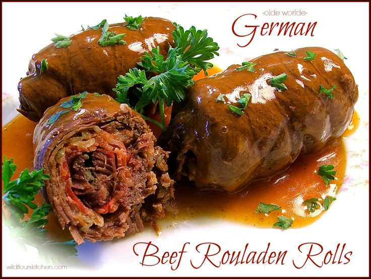 "Olde Worlde German Beef Rouladen Rolls with Gravy (""Rindsrouladen"") - Wildflour's Cottage Kitchen"