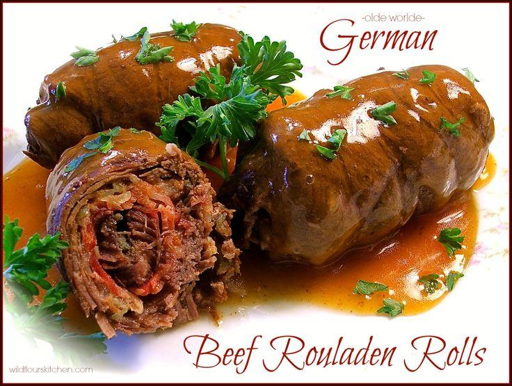 """Olde Worlde German Beef Rouladen Rolls with Gravy (""""Rindsrouladen"""")"""