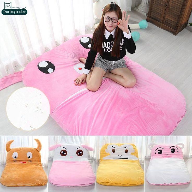 Dorimytrader 200cm X 180cm Cartoon Pig Tatami Stuffed Soft Animal Beanbag Bed Sofa Carpet Mattress 4 Size Free Shipping DY60997 //Price: $306.95 & FREE Shipping //     #hashtag3