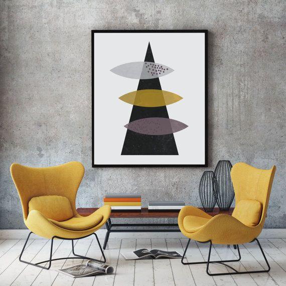 Geometric wall art abstract art geometric poster door FLATOWL