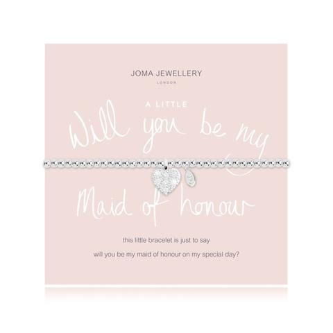 Will you be My Maid of Honour - SILVER PLATED BRACELET
