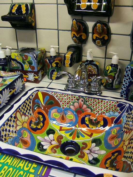 Talavera Tile Sink ~~ Oh My Goodness! Thatu0027s The Kind Of Sink I Want Now!