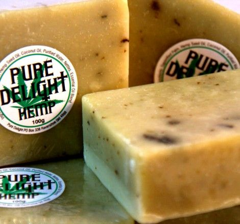 This luxurious hemp soap will leave your skin feeling naturally soft and also clean tough grease and ink. Soft enough to use on babies. All the benefits from  using hemp seed oil while taking a shower.     •   50% hemp seed oil •   All vegetable formula •   Lemon myrtle and spearmint essential oils •   Clean, refresh and moisturize your skin •   P-H balanced •   Cleans like nothing else you've ever used