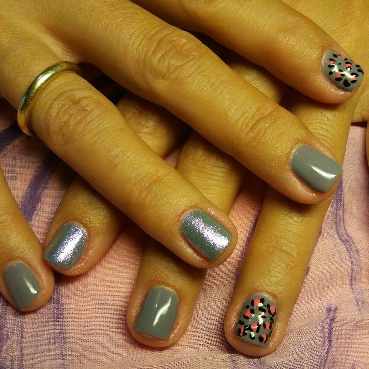 #shellac_nails#grey #mermaid_effect#handmade#nailart