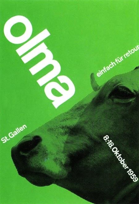 Affiche Olma Kuh, Josef Müller-Brockmann, 1959