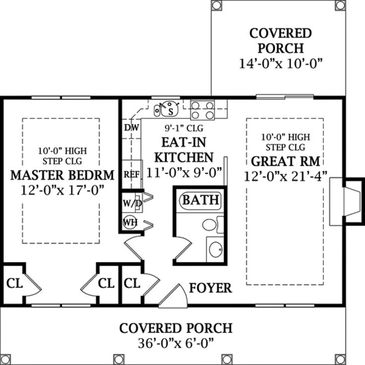 800 Square Foot Cottage Divide The Master Bdrm In Half