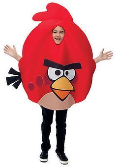 New Red Angry Birds Child Boys / Girls Costume  Party Prop One size 7-8 10-12 - http://www.shopprice.com.au/angry+birds+costume