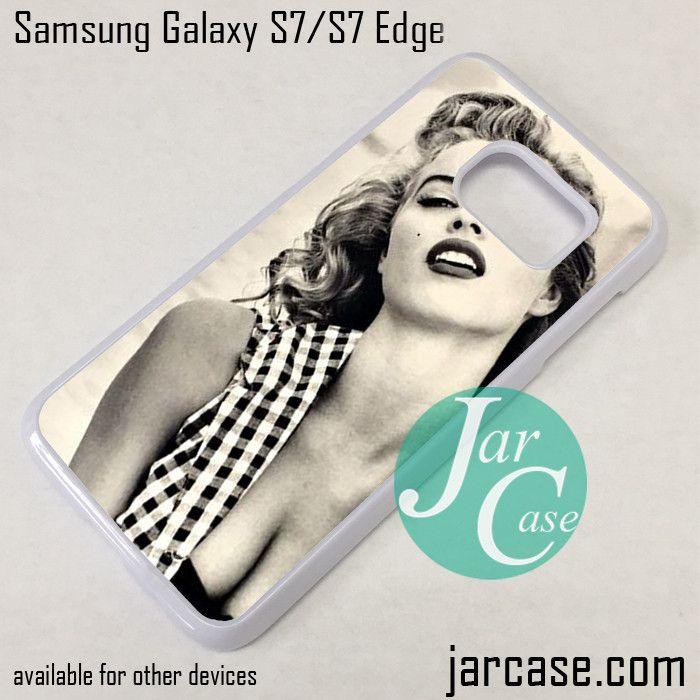 Eva Herzigova As Merlyn Monroe Phone Case for Samsung Galaxy S7 & S7 Edge