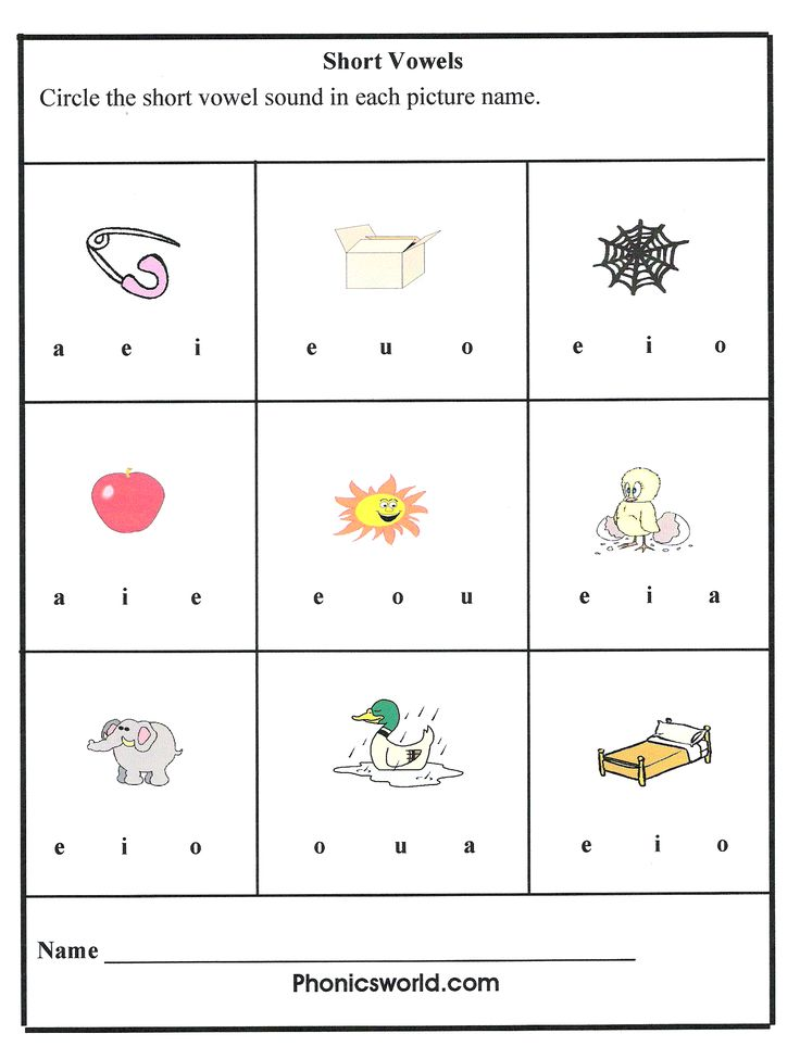 Short Vowel Sounds Teaching Ideas Phonics Worksheets