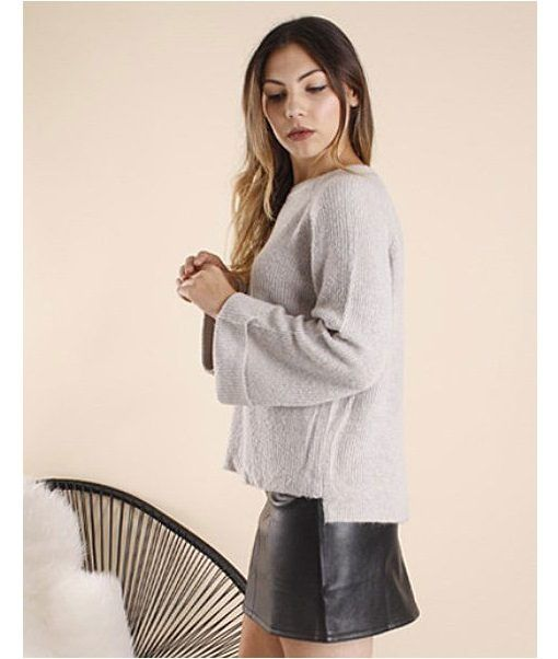 Relaxed Jumper – Grey | $59.95 | f r e e   p o s t  |  ribbed knit  •  jeans • originalsuperstars   | Quality Boutique Fashion