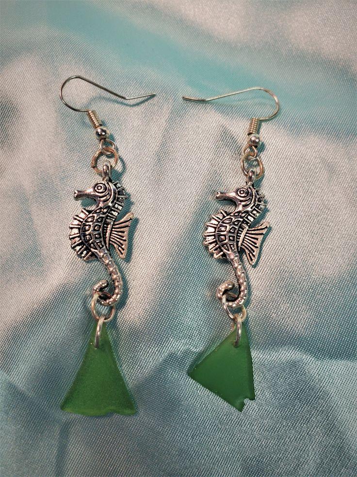 Cute Unicorn silver plated Tibetan charm earrings fantasy style Nickle free earhook