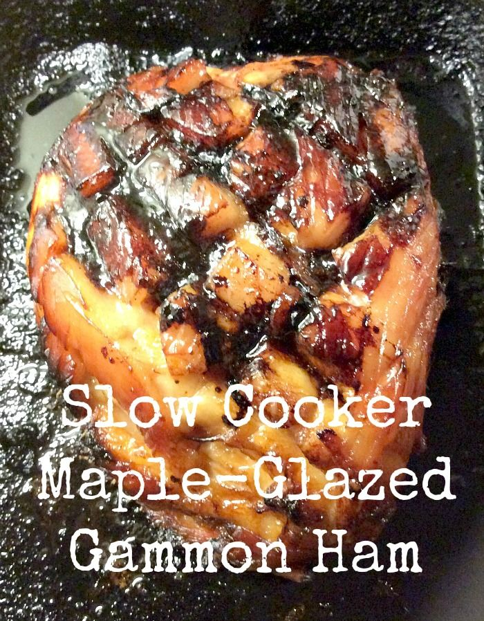 Slow cooker maple-glazed gammon (ham) - a great recipe for the festive season