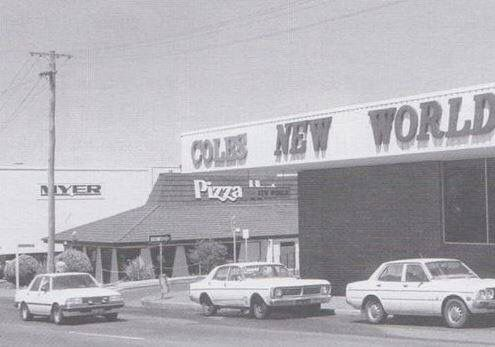 MARGARET ST TOOWOOMBA - Pizza Hut, Coles and Myer all in a row