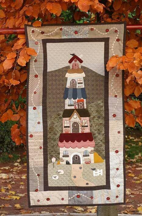 115 mejores im genes sobre casas en pinterest colcha - Casas de patchwork ...