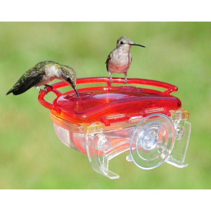 This adorable little gem window hummingbird feeder is easy