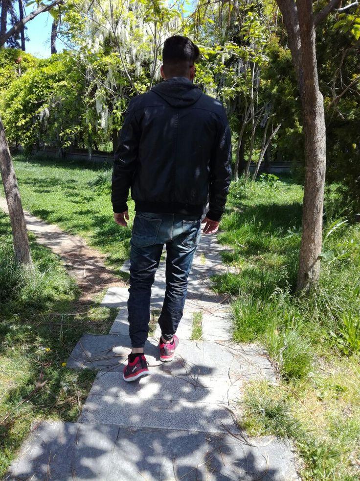 Fashion #model #man #fashion #clothes #nature #walk #photoshooting