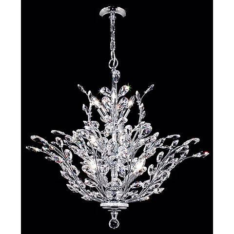 James R. Moder Florale Collection Silver Chandelier