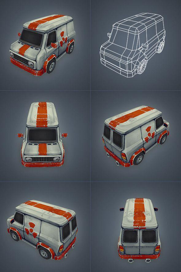 3DOcean Car 02 Low Poly 3065289