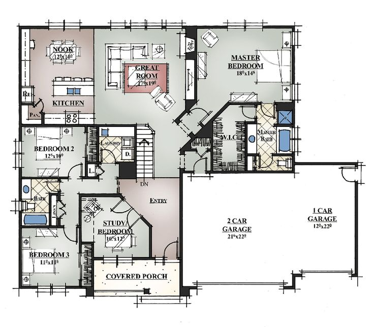 1000 ideas about custom house plans on pinterest 4 for Custom dream home floor plans