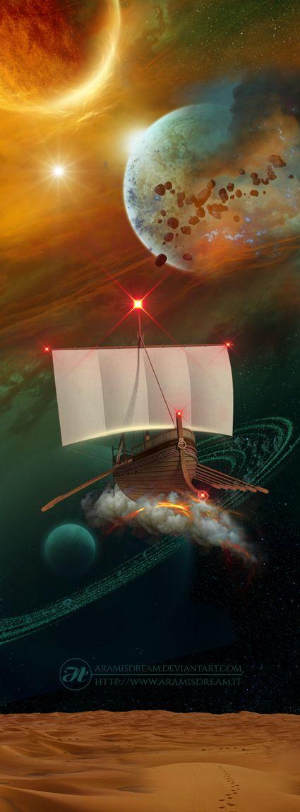 The journey of Canopus by Aramisdream.deviantart.com on @DeviantArt  #aliens #bigbang #boat #carina #carinae #constellation #cosmos #deepspace #desert #fantasy #greek #journey #mithology #nebula #otherworld #planet #planetring #planets #ship #space #starcatcher #starlight #stars #starship #universe #canopus #carena #etacarinae #spacejourney #conceptart #conceptual #galactic #photomanipulation #scifi #scififantasy #scifisciencefiction #spaceship #journeyconceptart #galacticdreamer