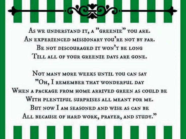 Greenie package poem