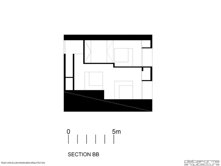 Casa Poli - Pezo von Ellrichshausen - section BB'