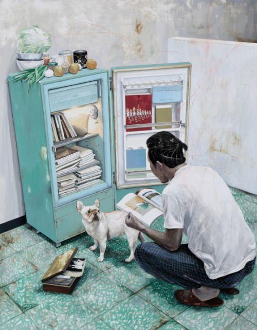 Conservando los libros a la fresca? (ilustración de Shih Yung-Chun)