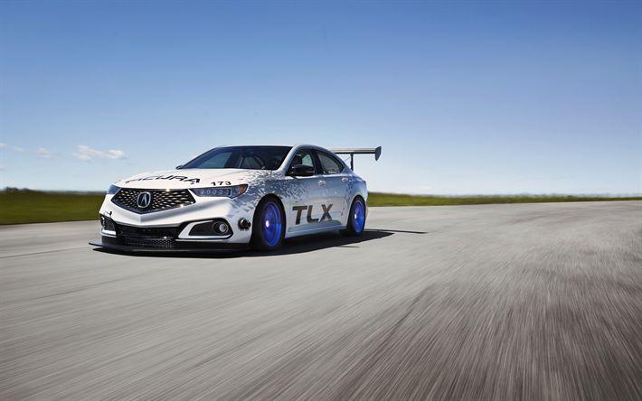 Descargar fondos de pantalla Acura TLX, a-Spec, 4k, 2018 coches, coches de carreras, el Acura TLX GT, sportcars, el Acura