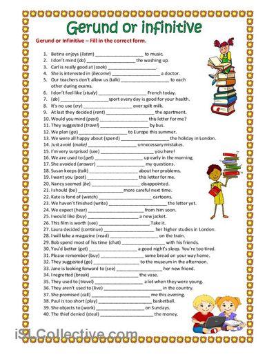 Gerund or Infinitive. worksheet - Free ESL printable worksheets made by teachers