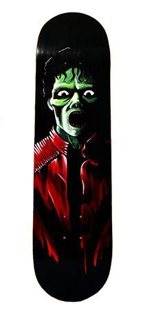 Kris Abigail  Atienza  Night Biter  - 2014   Mixed media on skateboard deck   20 x 80 cm