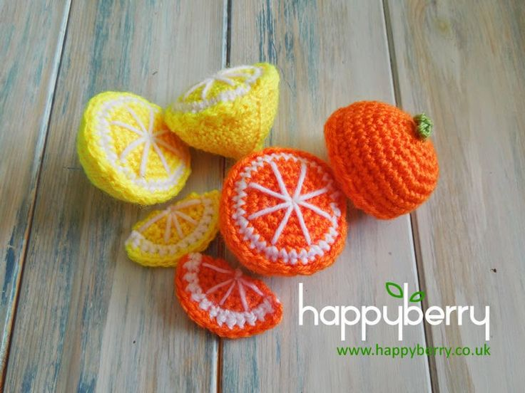 Happy Berry Crochet: How To - Crochet Oranges and Lemons plus Fruit Segments. Free pattern