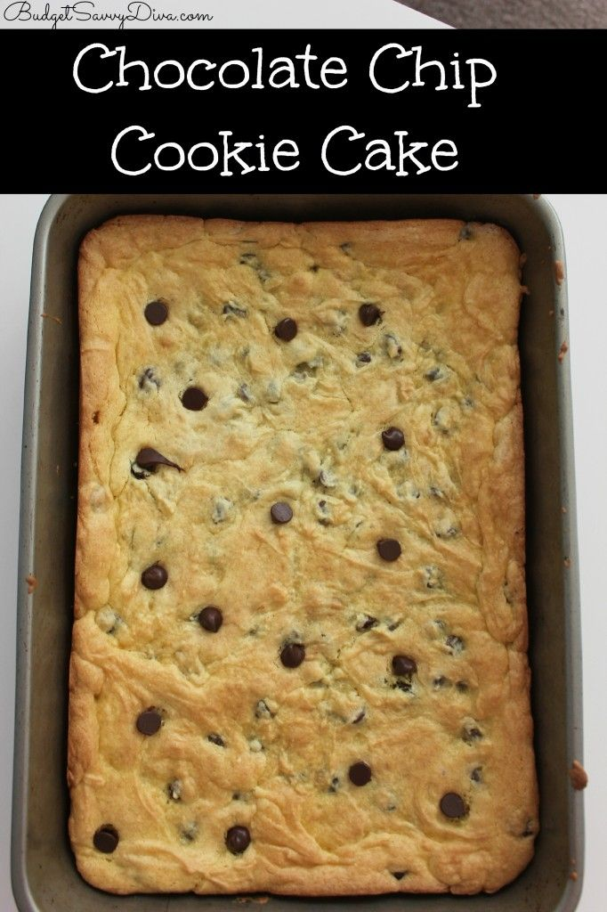 Chocolate chip cookie cake box recipe