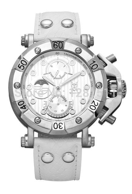Men dress leather band stainless steel case relogio quartz masculino DZ7256 , 2014 famous brand konigswerk wristwatches